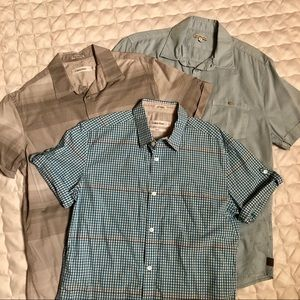 BUNDLE!! 3 Calvin Klein Short Sleeve Button Ups